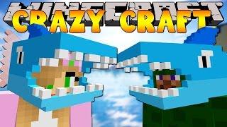 Minecraft Crazy Craft 3.0 : WE TURN INTO SHARKS!! #47 w/ Little Kelly