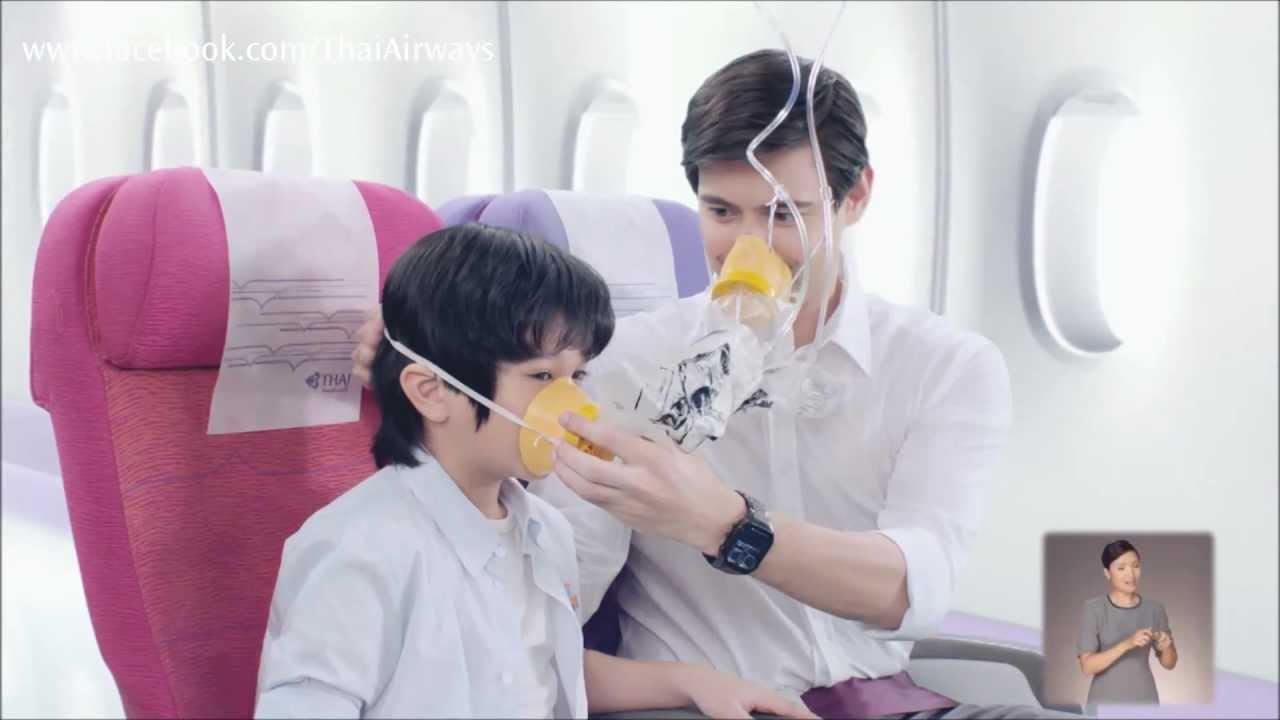 thai airways safety video model