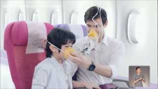 Repeat youtube video Thai Airways Safety Demonstration Video (2012)