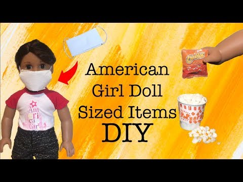 American Girl Doll Sized Items! ~DIY Face Mask, Food, And More!