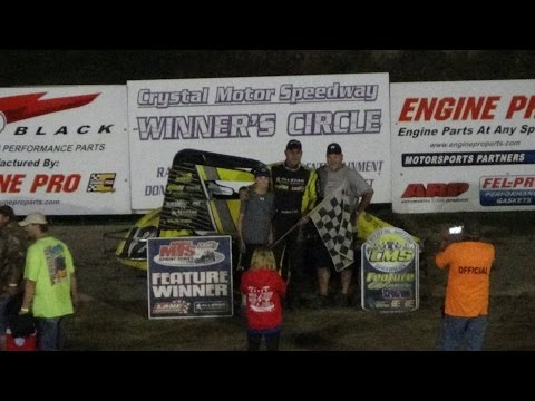 Traditional Sprints Feature at Great Lakes Nationals, Crystal Motor Speedway, 09-17-16