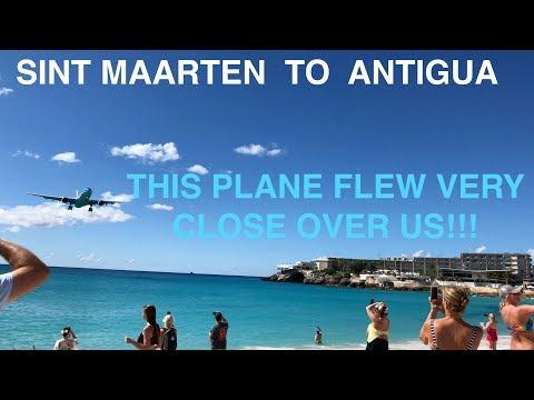 BEST PLANE SPOTTING EVER!   LIAT   SINT MAARTEN TO ANTIGUA   ATR 72-600   TRIP REPORT