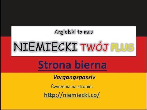 Strona bierna - Angielski to mus NIEMIECKI TWÓJ PLUS - Niemiecki gramatyka