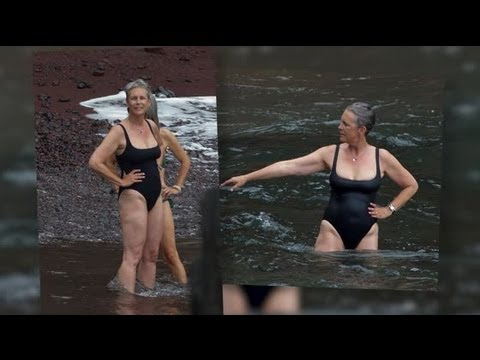 Jamie Lee Curtis Rocks a Swimsuit in Hawaii  Splash News  Splash News TV  Splash News TV