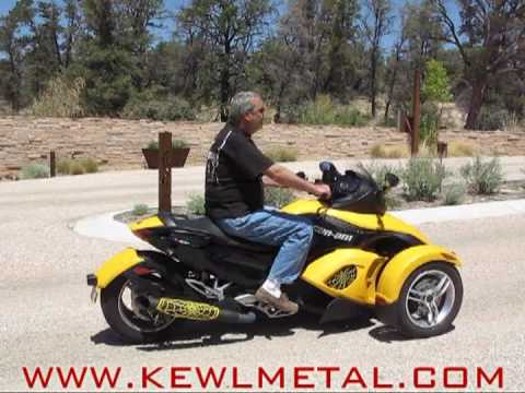 can am spyder kewlmetal performance exhaust youtube. Black Bedroom Furniture Sets. Home Design Ideas