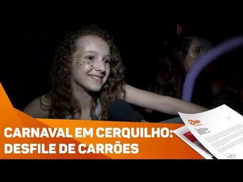 Carnaval em Cerquilho: desfile de carrões - TV SOROCABA/SBT
