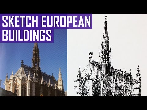 How to Sketch Old European Buildings | Pen Sketching Tutorial