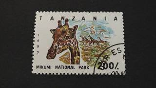 Postage stamp. TANZANIA. Mikumi National Park. 1993. Price 200/.