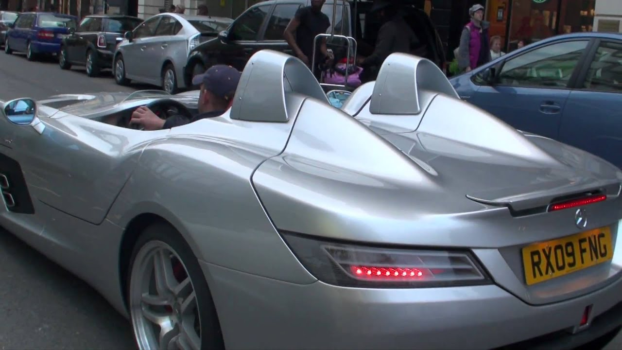 mclaren mercedes slr stirling moss in london driving walkaround youtube. Black Bedroom Furniture Sets. Home Design Ideas