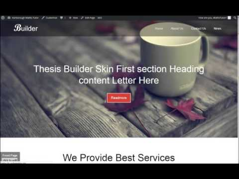 How To Build Your Tutor Website - 6-3 - Thesis Edit