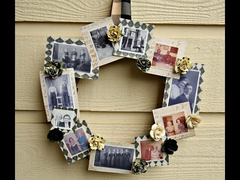 DIY Family Tree Photo Wreath Tutorial