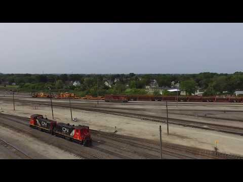 LOOKING DOWN AT THE FOND DU LAC WI YARD HD