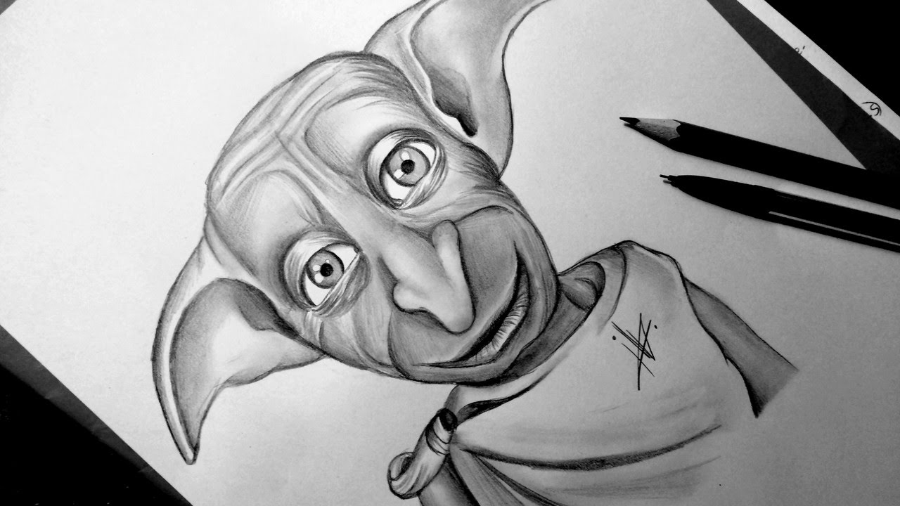 Drawing Dobby From Harry Potter Youtube