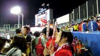 2013年7月20日神宮球場 試合後のセ・リーグ勝利の二次会応援の動画風景...