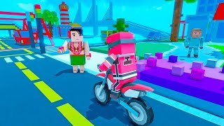 Moto Bike Taxi Drive: Craft Edition - bike driving games