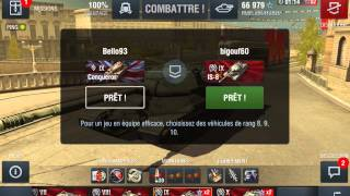 World of tanks blitz ( KV-1S,IS,IS-3,IS-8,IS-7) tiers 6 à 10