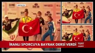 Selen Gündüz İranlı Sporcuya Türk Bayrağı Dersi Verdi