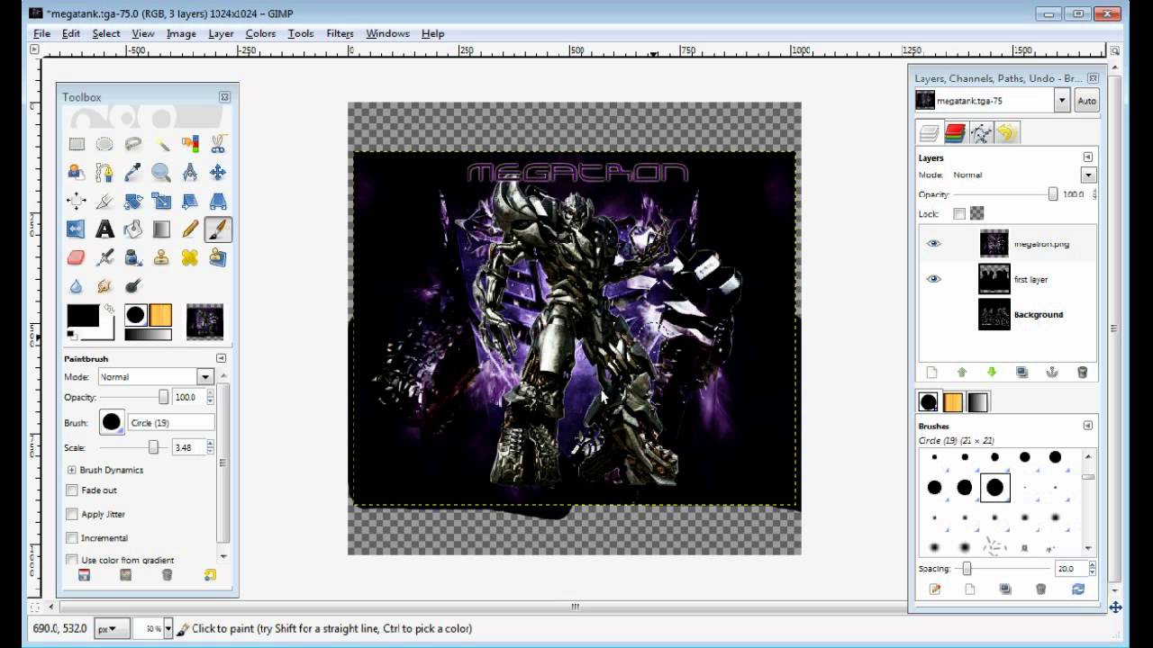 Gimp Making Your Own Clothes Texture Webm Youtube