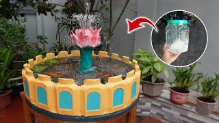 Amazing Ideas from Plastic Boxes and Cement - Diy Beautiful Waterfall Aquarium