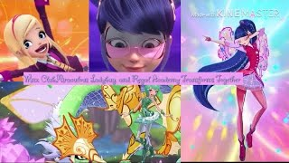 🌺Miraculous Ladybug, Regal Academy, and Winx Club Transforms Together 🦋👑(RE-UPLOAD)