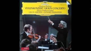 Gidon Kremer, Brahms Violin Concerto in D major Op.77, Leonard Bernstein