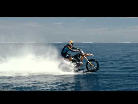 Riding Motocross motorcycles on water?! AWESOME!
