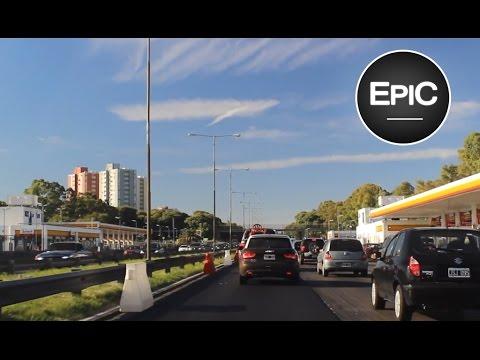 Avenida General Paz (desde Puente La Noria hasta Avenida Libertador) - Buenos Aires, Argentina (HD)