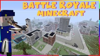 BATTLE ROYALE MINECRAFT | EPISODE 3 | MAP TILTED TOWERS FORTNITE (ps4)