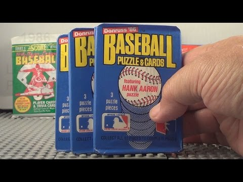 1986 Donruss Leaf Baseball Packs Opening Pack 3 - 5  Jose Canseco Rookie?