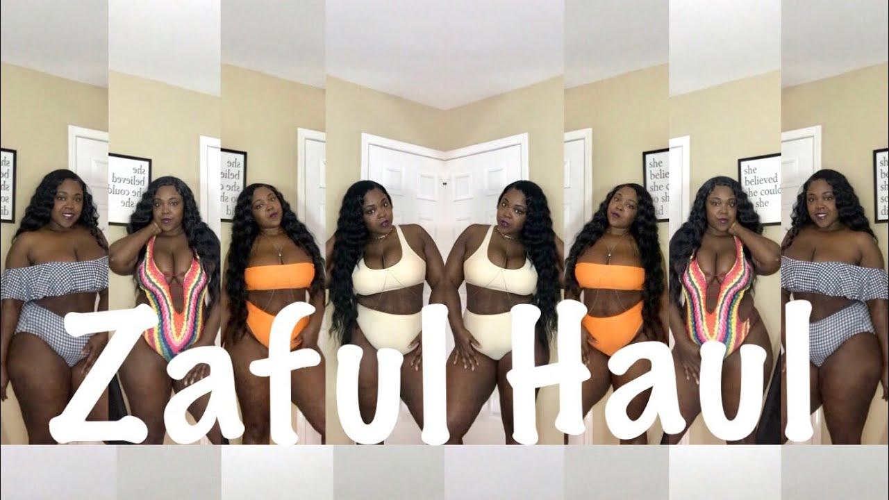 4bd412f4951 Vacation ready Zaful plus size swimsuit haul 2018 - YouTube