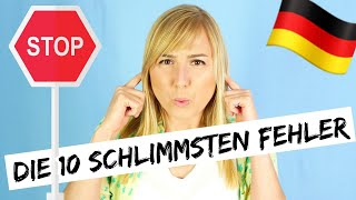 TOP 10 mistakes made by German learners! Do you know better? Then test yourself!