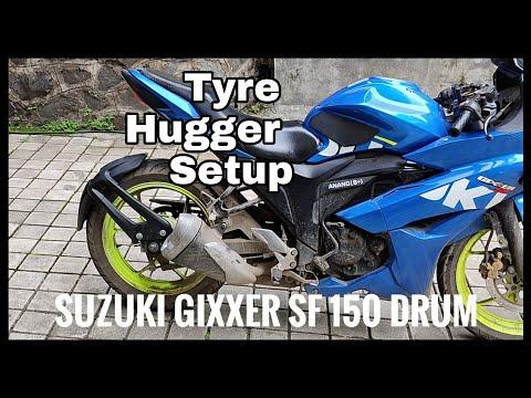 Suzuki Gixxer SF150 Drum Modifications | Tyre Hugger Setup – Rear Mudguard | DIY INSTALL | DNA VLOGS
