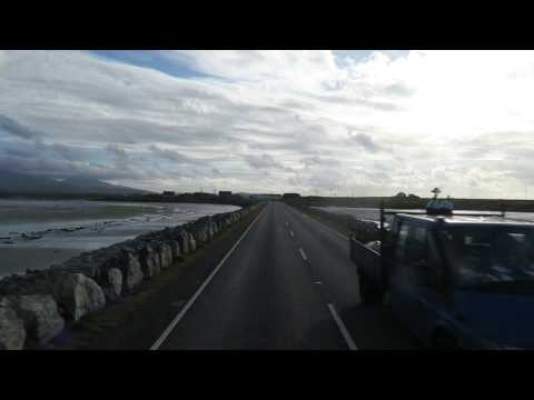 Driving over causeway from Benbecula to South Uist