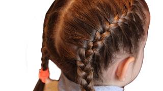 Peinado simple para niños en jardín de infantes, escuela ❤ Peinados fáciles para todos los días