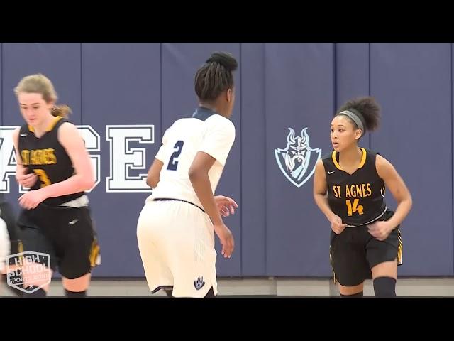 St  Agnes vs The Village School Girls Basketball