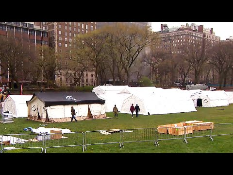 Central Park Turns Into Field Hospital