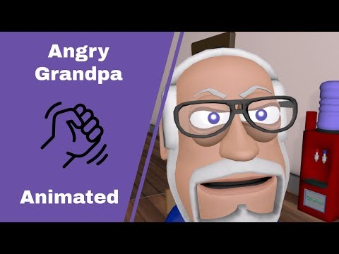 Angry Grandpa's 300K Subscriber speach to Youngins Animated.