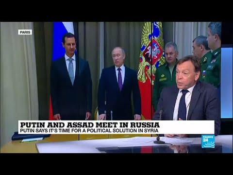 "Putin and Assad meet in Russia: ""Assad has to do as president Putin says"""