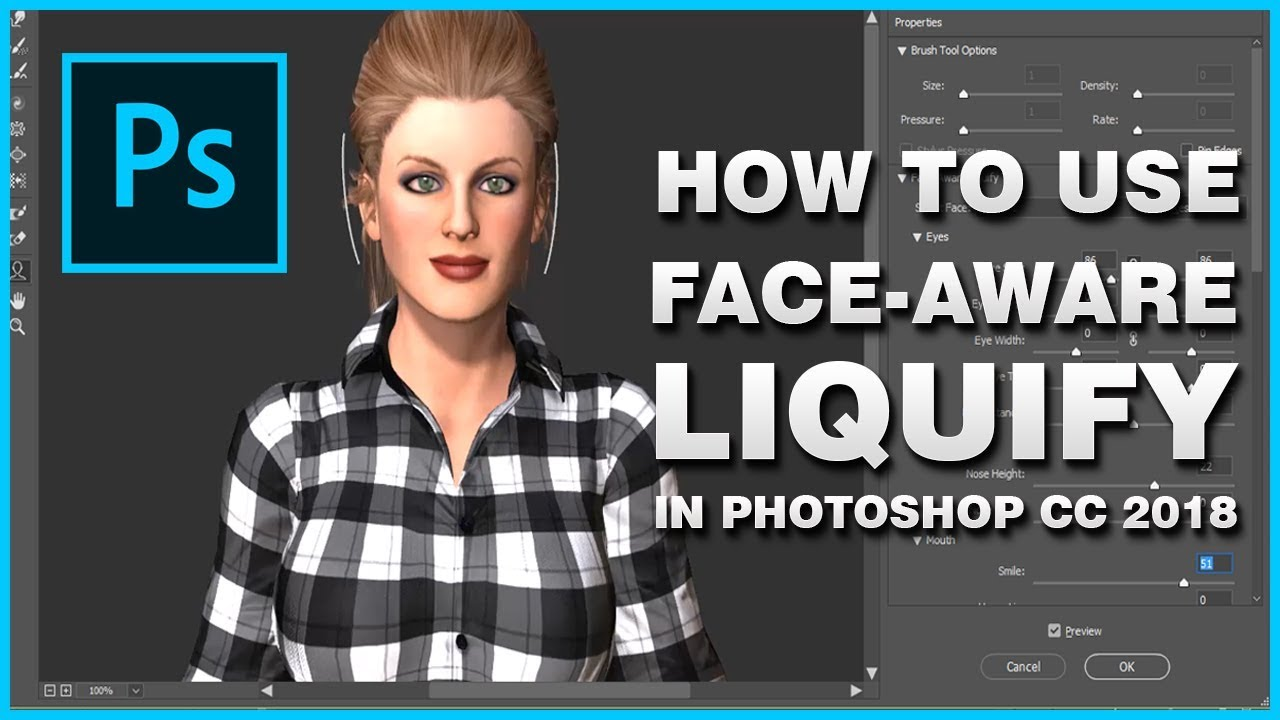 Photoshop cc 2018 liquify - How To Use The Face-Aware Liquify In Photoshop  2018