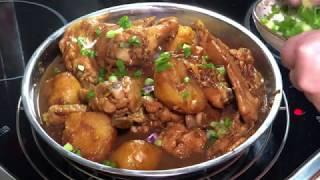 Ayam pongteh (nyonya dish - salted bean chicken potato stew)