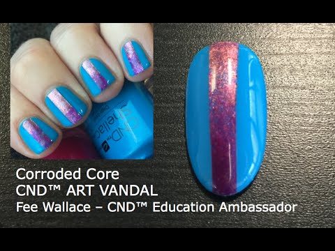 Shellac Vinylux Nail Art Tutorial Corroded Core Youtube