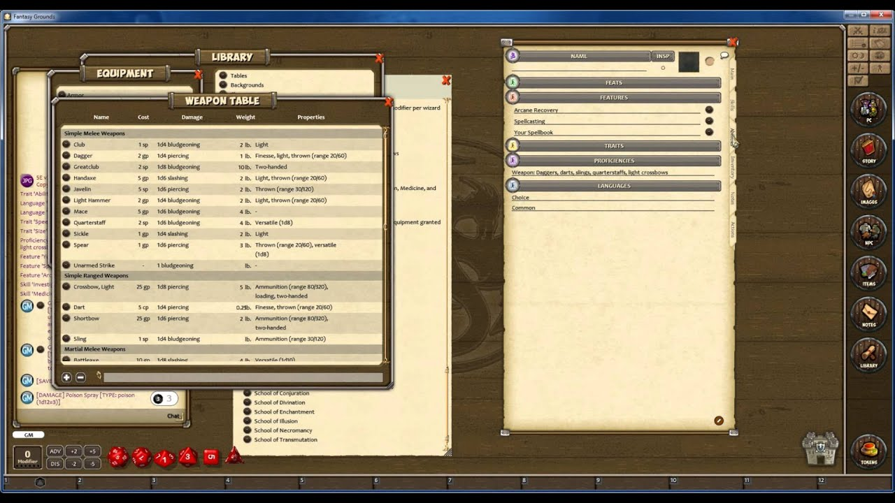 fantasy grounds adding 5th edition module character creation youtube