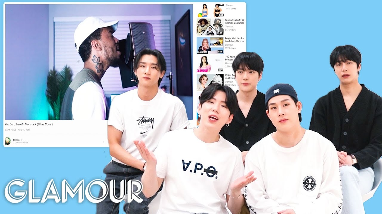 Monsta X Watches Fan Covers on YouTube - Part 3   Glamour