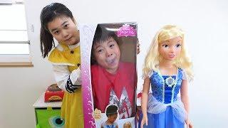 人形 隠されたー! 大きなシンデレラ おゆうぎ こうくんねみちゃん New Cinderella doll Hidden