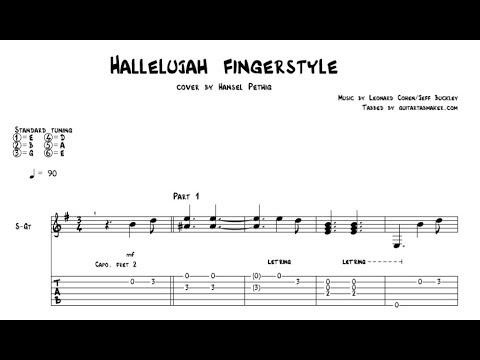Hallelujah Tab Acoustic Fingerstyle Guitar Tab Pdf Guitar Pro