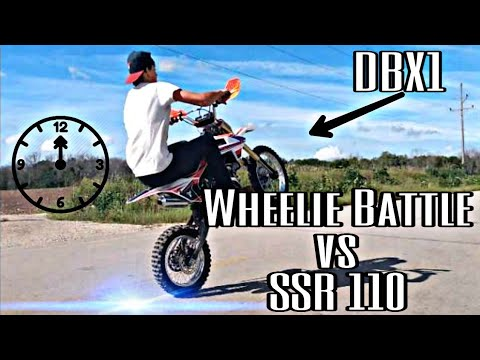 *WHEELIE BATTLE* TaoTao 140cc vs SSR 110cc |DBX1 & SSR Pit Bike Road Wheelies|