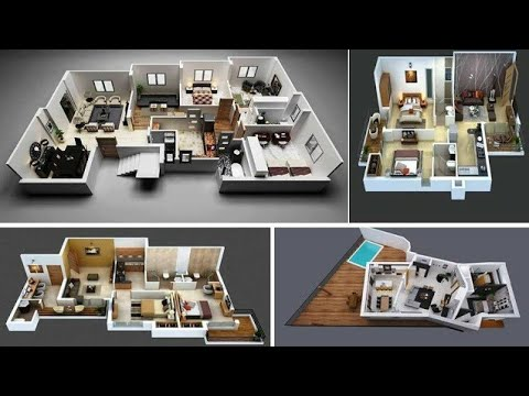 3d Cozy Home Plans 2 Bedroom Home Design Ideas Home Designs House Design Youtube