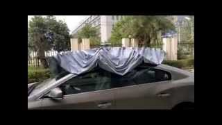 Automatic car sunshade with remote control