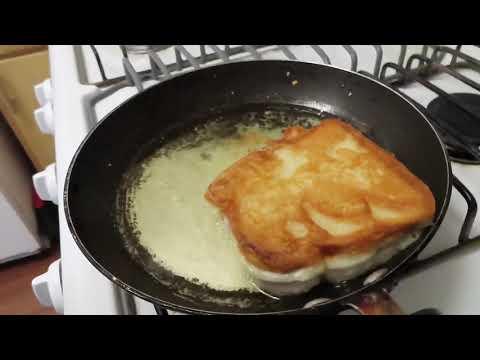 Fried peanut butter & jelly sandwich (must watch)!!