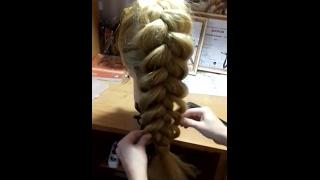 Объемная коса видео